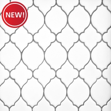 New! White Lantern Polished Porcelain Mosaic