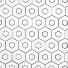 White Double Hexagon Polished Porcelain Mosaic