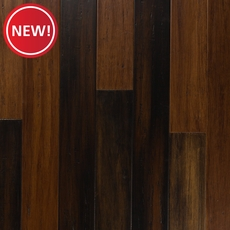 New! EcoForest Espresso Hand Scraped Solid Stranded Bamboo