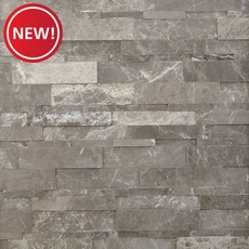 New! Vitava Carbon Polished Marble Panel Ledger