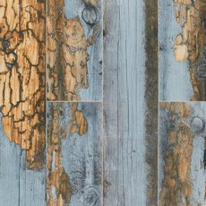 Duke Brown Blue Wood Plank Porcelain Tile