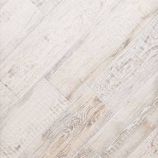 Brixton White Wood Plank Porcelain Tile