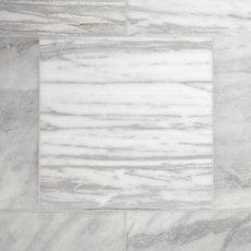 Aurora White Polished Marble Tile