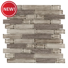 New! Sterling Wood Glass Mosaic