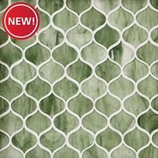 New! Emerald City Arabesque Glass Mosaic