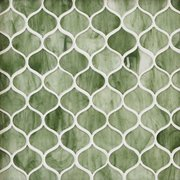Emerald City Arabesque Glass Mosaic