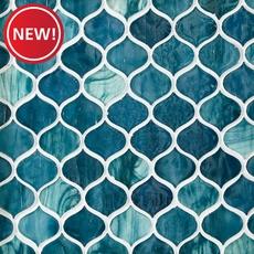 New! Marina Del Ray Arabesque Glass Mosaic