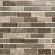 Chestnut Tweed 1 x 3 Brick Recycled Glass Mosaic