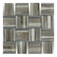 Montage Enchanted Woods Metallic Glass Mosaic