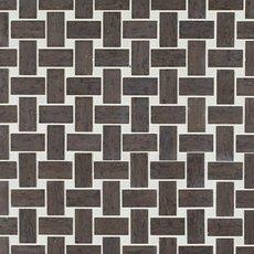 Mediterranean Gray Basketweave Marble Mosaic