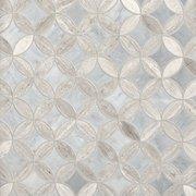 Valentino Bardiglio Tulip Polished Marble Mosaic
