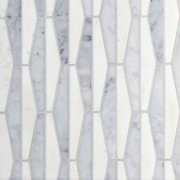 Thassos Bianco Parallels Polished Marble Mosaic