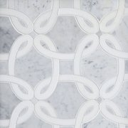 Whimsy Bianco Carrara Waterjet Marble Mosaic