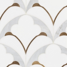 Pegasus Bianco Carrara Thassos Polished Water Jet Marble Mosaic