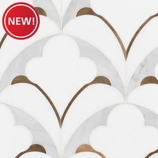 New! Viviano Marmo Pegasus Bianco Carrara Thassos Polished Water Jet Marble Mosaic