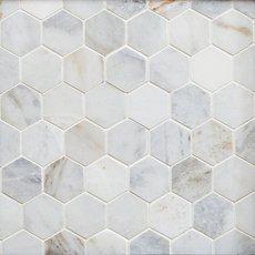 Bianco Orion Hexagon Polished Marble Mosaic
