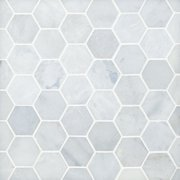 Blue Forest Hexagon Polished Marble Mosaic