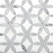 Millefort Thassos Bianco Polished Marble Mosaic