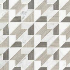 Houndstooth Carrara Blend Marble Mosaic