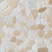Cream and White Pebble Mosaic