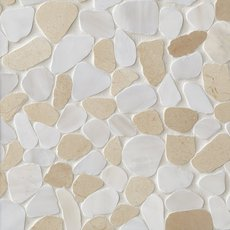 Cream and White Pebble Mosaic