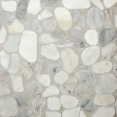 Mixed Carrara Pebble Mosaic
