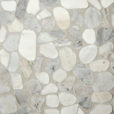 Mixed Carrara Pebble Mosaic