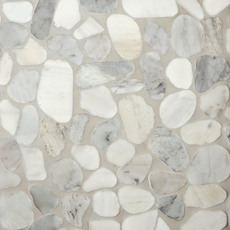 Mixed Carrara Pebblestone Mosaic