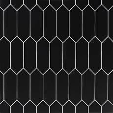 Black Picket Ceramic Tile