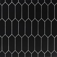 Black Picket Ceramic Tile
