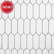 New! White Picket Ceramic Tile
