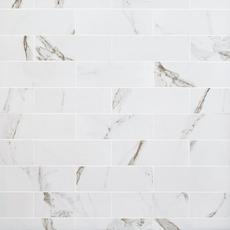 Calacatta Bianco Polished Porcelain Tile