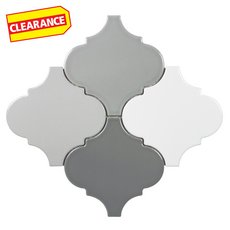 Clearance! Multi Color Arabesque Porcelain Mosaic