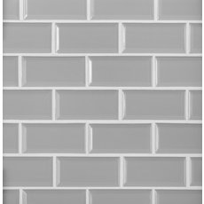 Gray Beveled Brick Porcelain Mosaic