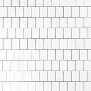 White Offset Shingle Porcelain Mosaic