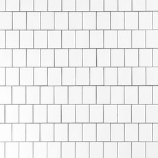 White Offset Shingle Porcelain Mosaic