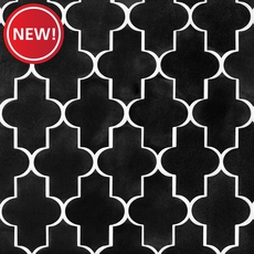 New! Jet Black Basalt Arabesque Limestone Mosaic