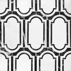 Artemis Carrara Nero Waterjet Marble Mosaic