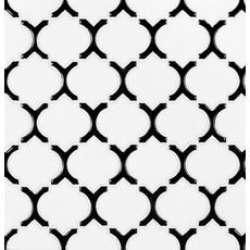 Black Frame Polished Marakkesh Porcelain Mosaic