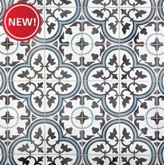 New! Equilibrio Blue II Encaustic Cement Tile
