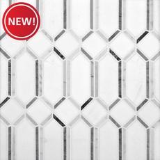 New! Thassos Gateways Polished Marble Mosaic