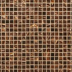 Chocolate Toffee 1 x 1 in. Square Glass Mosaic