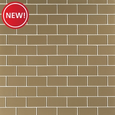 New! Tan Glass Tile