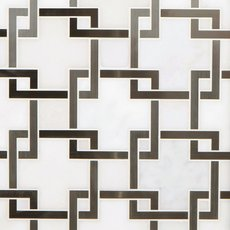 Vector Royal White Stainless Steel Marble Mosaic