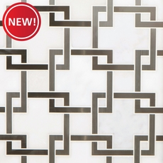 New! Vector Royal White Stainless Steel Water Jet Marble Mosaic