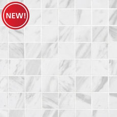 New! Volakas Polished Porcelain Mosaic