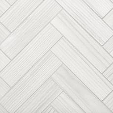 Finland White Wood Plank Porcelain Mosaic