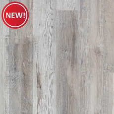 New! Highland Gray Salvage Luxury Vinyl Plank with Foam Back
