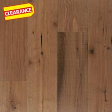 Clearance! Mustang White Oak Distressed Engineered Hardwood XL Plank