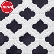 New! Mystic Linen Arabesque Porcelain Mosaic